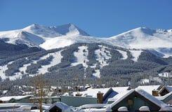 布雷肯里奇滑雪倾斜 免版税库存照片
