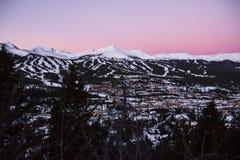 布雷肯里奇滑雪胜地Montains 库存照片