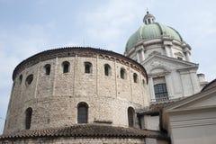 布雷西亚大厦有历史的意大利伦巴第 免版税库存照片
