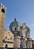 布雷西亚大教堂巨大的正方形 免版税库存照片