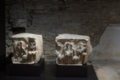 布雷西亚,意大利, 2017年8月11日,老雕塑在博物馆  免版税库存图片