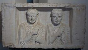 布雷西亚,意大利, 2017年8月11日,老雕塑在博物馆  免版税库存照片