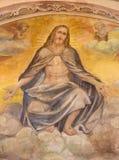 布雷西亚,意大利, 2016年:复活的基督壁画在教会基耶萨di由Romanino学校的圣朱塞佩礼拜堂里  库存图片