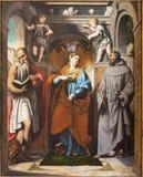 布雷西亚,意大利, 2016年:Antioch,阿西西和圣杰罗姆圣法兰西斯圣玛格丽特痛苦  图库摄影