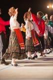 布雷西亚,意大利2016年5月28日, 民间舞,俄国舞蹈,小组第14个节日  免版税图库摄影