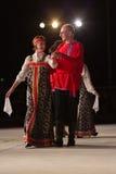 布雷西亚,意大利2016年5月28日, 民间舞,俄国舞蹈,小组第14个节日  免版税库存照片