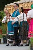 布雷西亚,意大利2016年5月28日, 民间舞,俄国舞蹈,小组第14个节日  库存图片