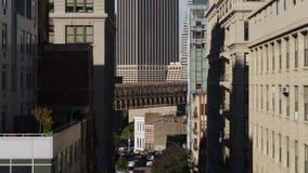 布鲁克林大桥和更低的曼哈顿独特的看法  股票视频