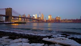 布鲁克林大桥和曼哈顿日出的 影视素材