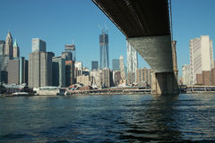 布鲁克林大桥和曼哈顿纽约 免版税库存图片