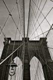 布鲁克林大桥在冬天, NYC 库存图片