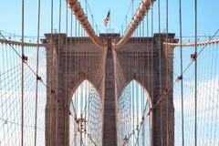 布鲁克林大桥在纽约, NY,美国 免版税库存照片