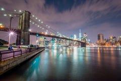 布鲁克林大桥在纽约 库存图片