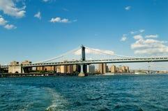 布鲁克林大桥在纽约 免版税库存照片
