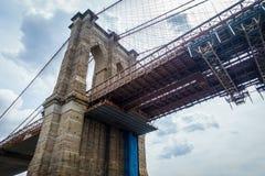 布鲁克林大桥在纽约 免版税图库摄影