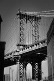 布鲁克林大桥在黑白的纽约 免版税库存图片