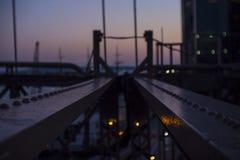 布鲁克林大桥射线 库存照片