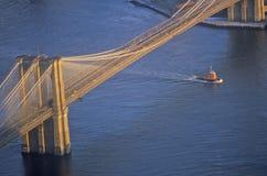 布鲁克林大桥射击了从上面,曼哈顿,纽约, NY 免版税图库摄影