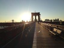 布鲁克林大桥早晨 免版税库存图片