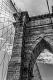 布鲁克林大桥曲拱 库存图片