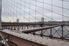 布鲁克林大桥曼哈顿, nowy jork 免版税库存照片