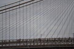 布鲁克林大桥特写镜头 库存图片