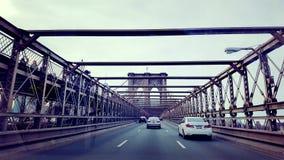 布鲁克林大桥甲板 免版税库存图片