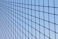 布鲁克林大桥的几何电缆模式 免版税库存照片