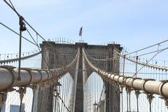 布鲁克林大桥的曲拱 库存照片