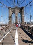 布鲁克林大桥纽约独特的剪影  库存照片