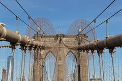 布鲁克林大桥缆绳 免版税库存图片