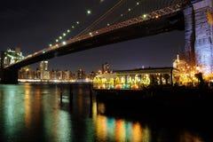 布鲁克林大桥视图 免版税库存照片