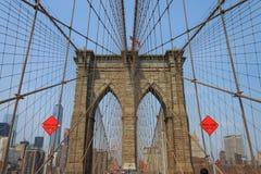 布鲁克林大桥,纽约,美国 图库摄影