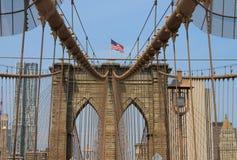 布鲁克林大桥,纽约,美国 免版税图库摄影