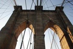 布鲁克林大桥细节 免版税库存照片