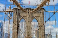 布鲁克林大桥 免版税图库摄影
