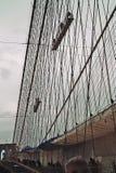 绘画布鲁克林大桥 免版税库存图片