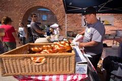 布鲁克林室外食物市场 图库摄影