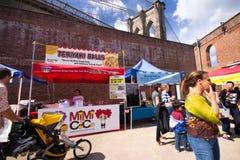布鲁克林室外食物市场 免版税图库摄影