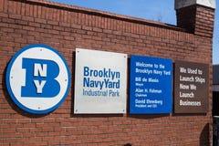 布鲁克林海军工厂 免版税库存图片