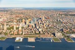 布鲁克林纽约鸟瞰图  库存图片