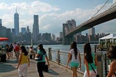 布鲁克林轮渡弗尔顿着陆纽约 图库摄影
