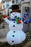 布鲁克林,纽约- 2017年12月20日- Dyker高度圣诞灯在假日装饰为 免版税图库摄影