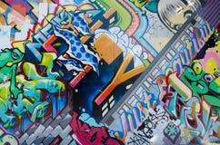 布鲁克林, NYC,美国, 2013年10月1日:街道艺术在布鲁克林 墙壁 库存图片