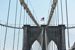 布鲁克莱恩桥梁在晴天 免版税库存照片