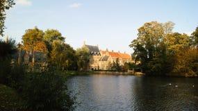 布鲁基,比利时,城市的图片 免版税库存图片