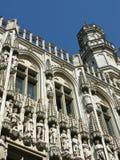 布鲁塞尔历史的市政厅  库存照片