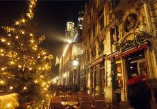 布鲁塞尔圣诞节全部安排 免版税图库摄影
