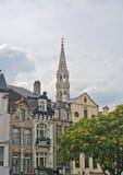 布鲁塞尔城镇厅塔,比利时 库存照片