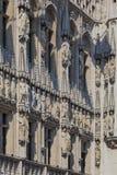 布鲁塞尔城镇厅,比利时细节  图库摄影